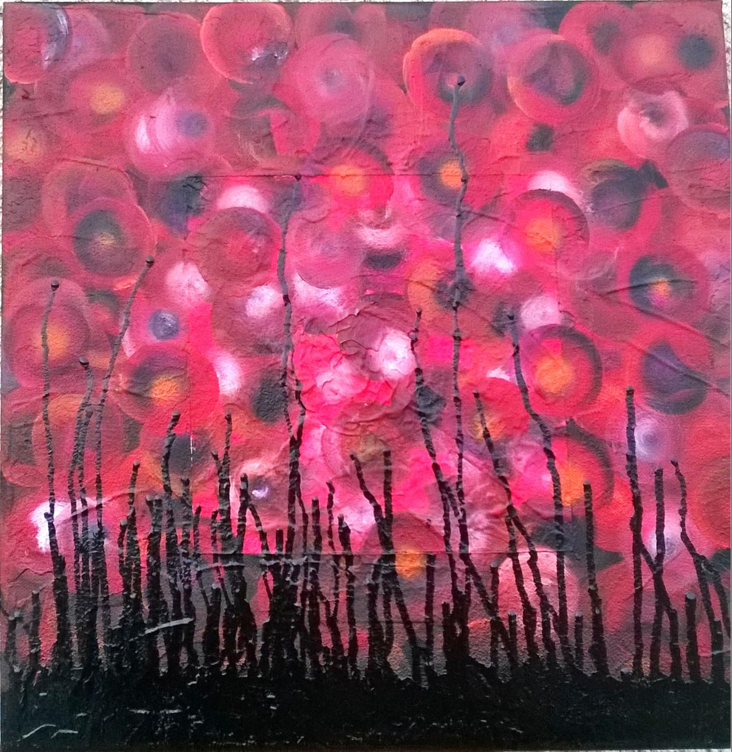 Peinture acrylique abstraite et moderne - Faire un tableau moderne ...